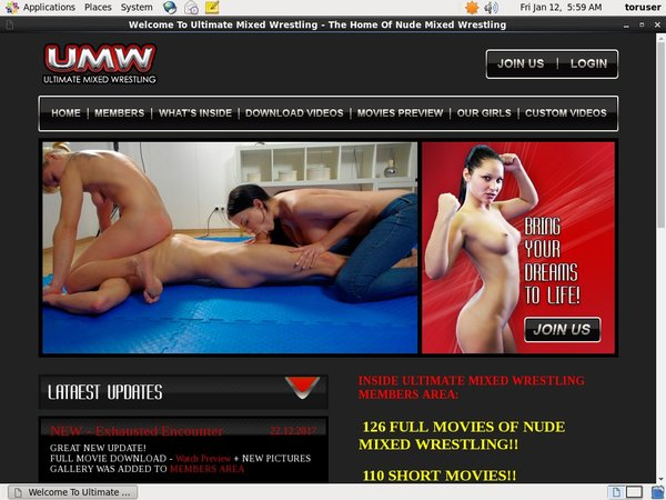 Get A Free Ultimate Mixed Wrestling Membership