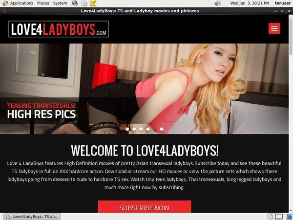 Log In Love4ladyboys.com