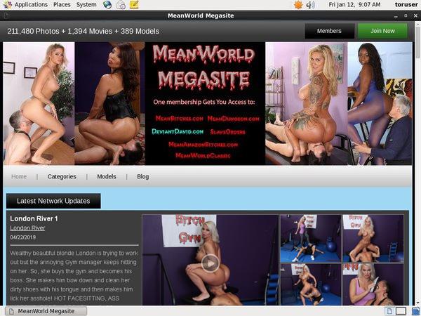 Meanworld Member Password