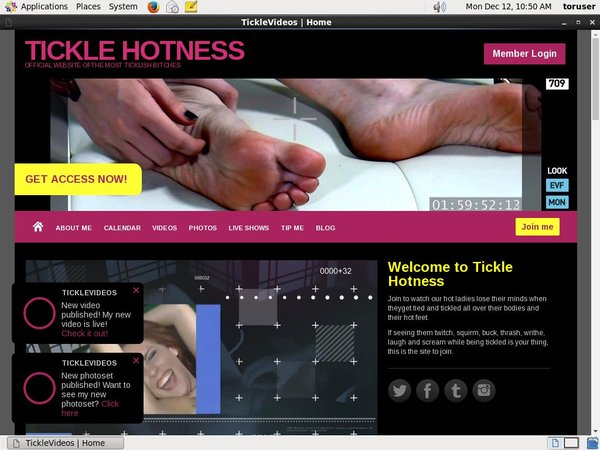 TICKLE HOTNESS By SMS